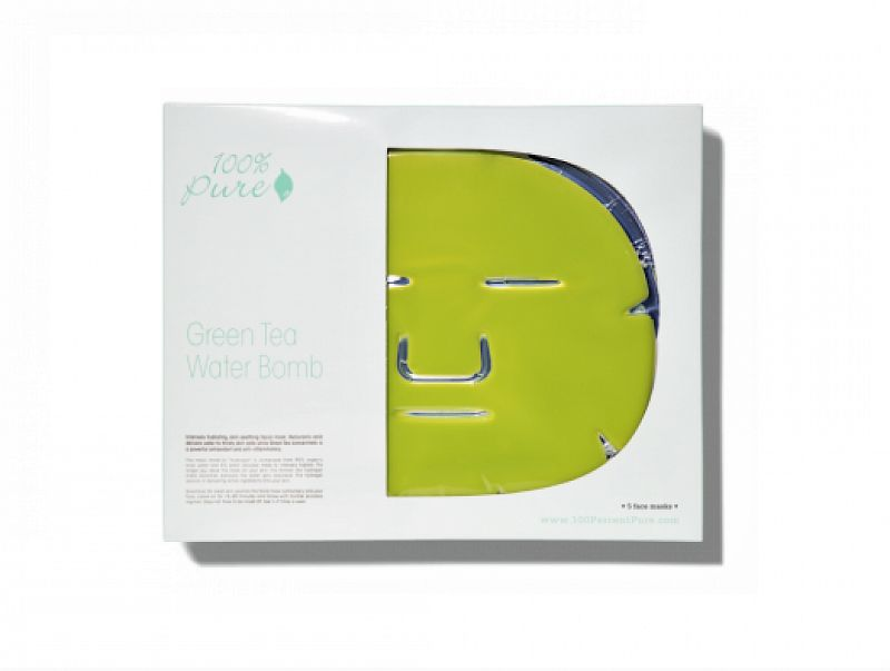 Hydratačná maska – zelený čaj 100%PURE