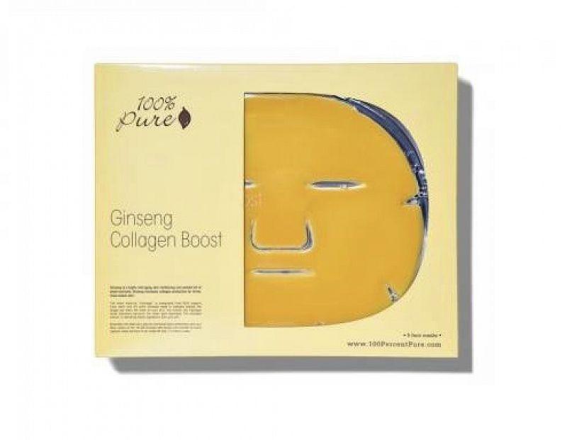 Pleťová maska na vrásky – ženšen 100%PURE
