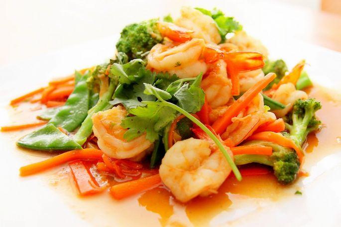 Zdravé jedlo plné zeleniny