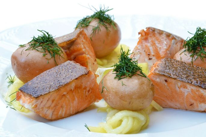 Zdravé jedlo - losos