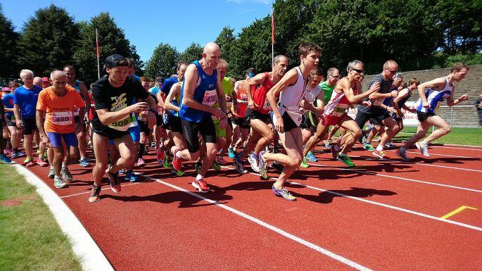 Štart na mestskom maratóne
